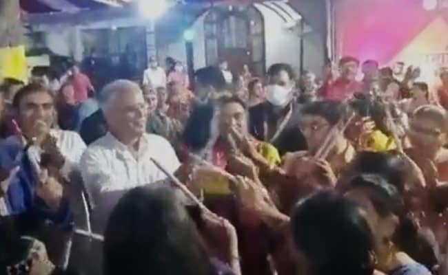 Watch: When Chhattisgarh Chief Minister Took Some Time Out For Dandiya