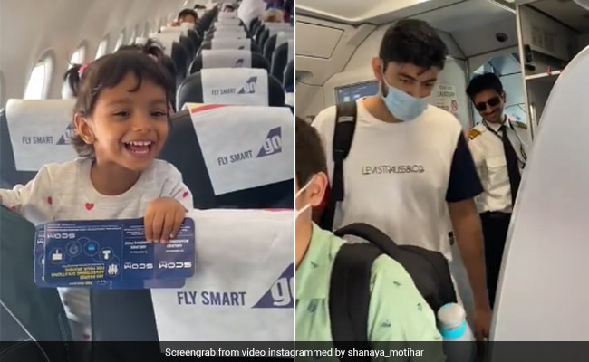 Watch: A Girl's Excited Reaction After Seeing Pilot Dad On The Same Flight