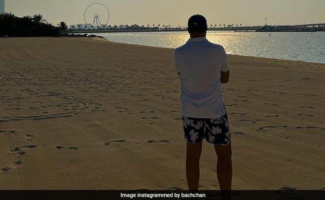 Credit For This Pic Of Abhishek Bachchan From Dubai Goes To Aishwarya Rai Bachchan