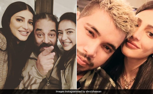 Shruti Haasan Celebrates Sister Akshara's Birthday With Dad Kamal Haasan And Boyfriend Santanu Hazarika