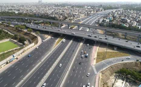 Image result for Eastern Peripheral Expressway is the India's first highway to be lit by solar power