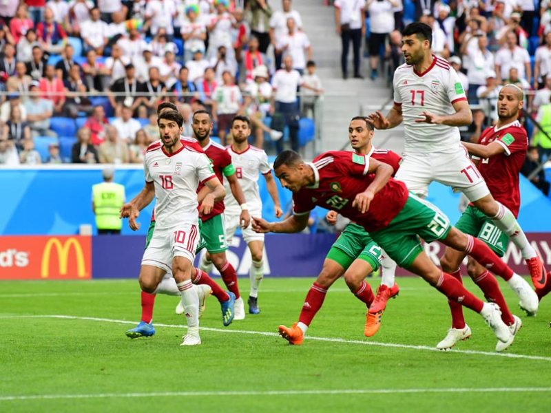 Image result for morocco iran own goal
