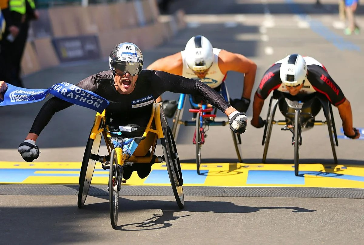wheelchair marathon stacking chairs for less 2016 boston the globe