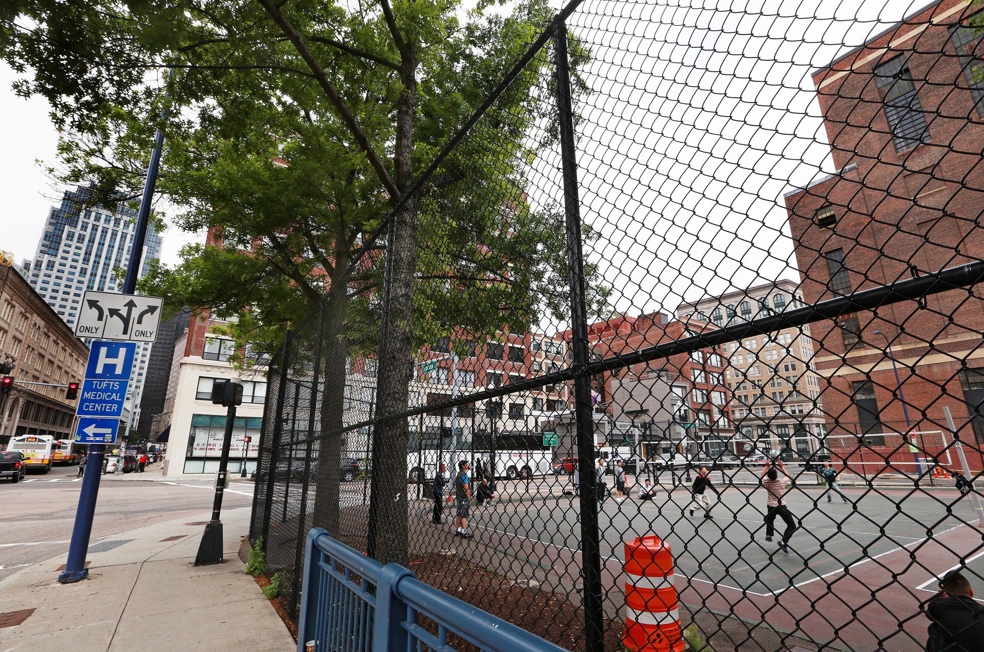 Generations of volleyball players have honed their skills at Reggie Wong Park off Kneeland Street.