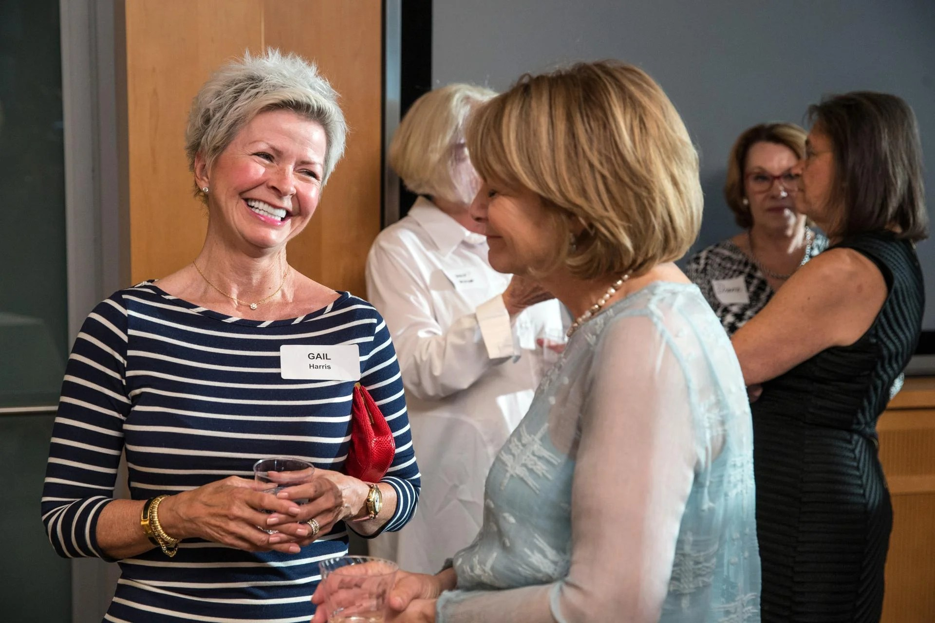 06/14/2017 BOSTON, MA Gail harris (cq) (left) and Francine Achbar (cq) attend a cocktail party at WGBH studios. (Aram Boghosian for The Boston Globe)