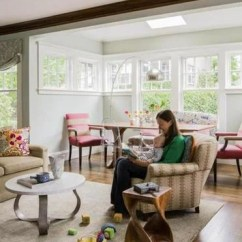 Mccabe Camping Chairs Patio Sling Chair Replacement Best Redesign The Boston Globe Caroline Springer And Her Young Son Read Together In Living Room Where Reupholstered