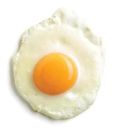 The egg yolk is full of cholesterol.