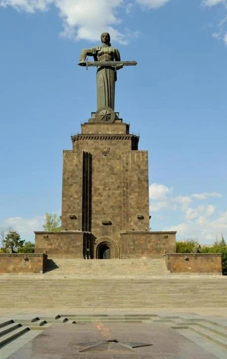 29armenia - Mother Armenia statue. (Juliet Pennington for The Boston Globe)