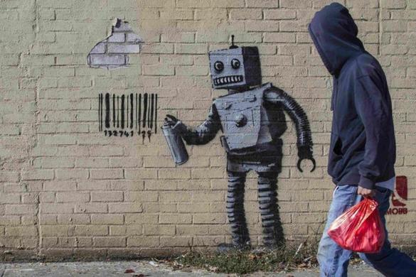 Little Peanut Girl Wallpaper Genius Or Jerk Debate Over Banksy S Month Of Art In New