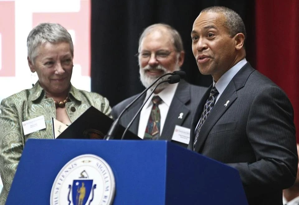 Jane Doe Inc. members Mary R. Lauby and Craig Norberg-Bohm received a proclamation from Governor Deval Patrick during the 5th Annual Massachusetts White Ribbon Day in May. The event encourages men to take a stance against domestic violence towards women.
