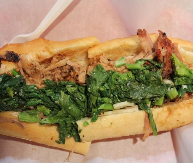 The Roast Pork Sandwich With Broccoli Rabe And Provolone