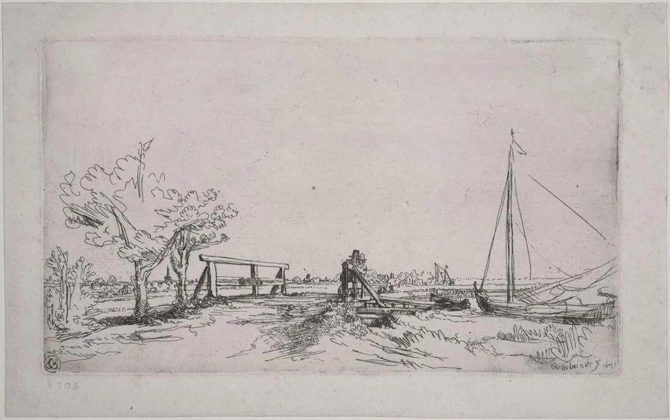 """Rembrandt Harmensz van Rijn's """"Six's Bridge."""""""