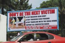 A public health advertisement in Monrovia.