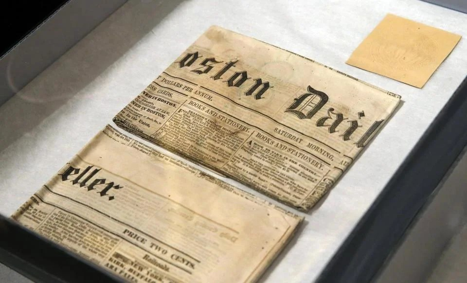 Newspapers were in the time capsule, which was opened in 1855, when items from that time were added.