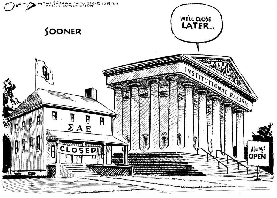 Editorial cartoon: University of Okla. fraternity scandal