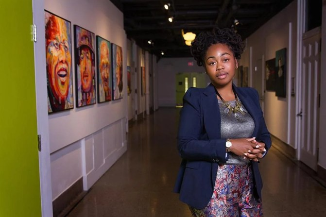 Tonika Morgan, pictured at the Artscape Youngplace in Toronto.