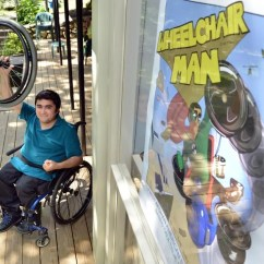 Wheelchair Man Red Bar Chairs Tells A Real Life Superhero Story The Boston Globe