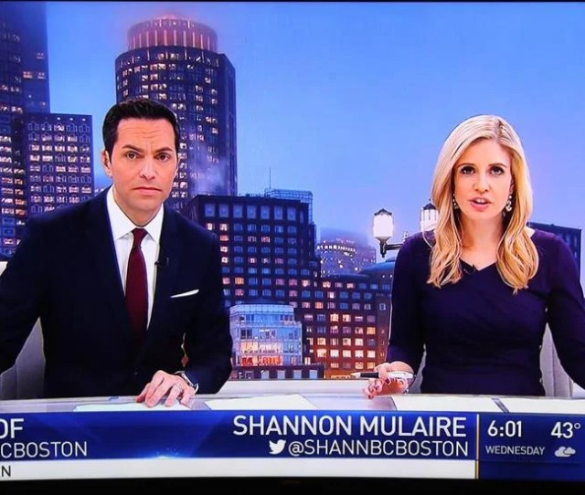 Shannon Mulaire And Phil Lipof Anchor The Nbc Boston Newscasts At  P M And  P M