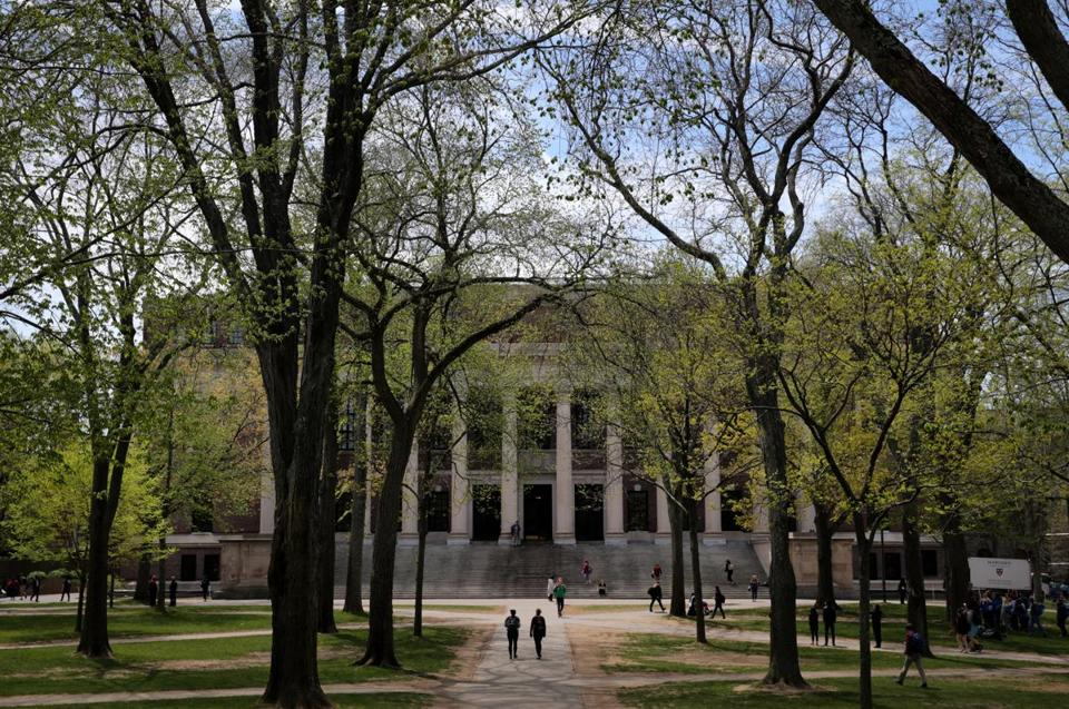 Cambridge, MA- May 04, 2017: Harry Elkins Widener Memorial Library in Harvard Yard in Cambridge, MA on May 04, 2017, MA on May 04, 2017. (Globe staff photo / ) section: metro reporter: