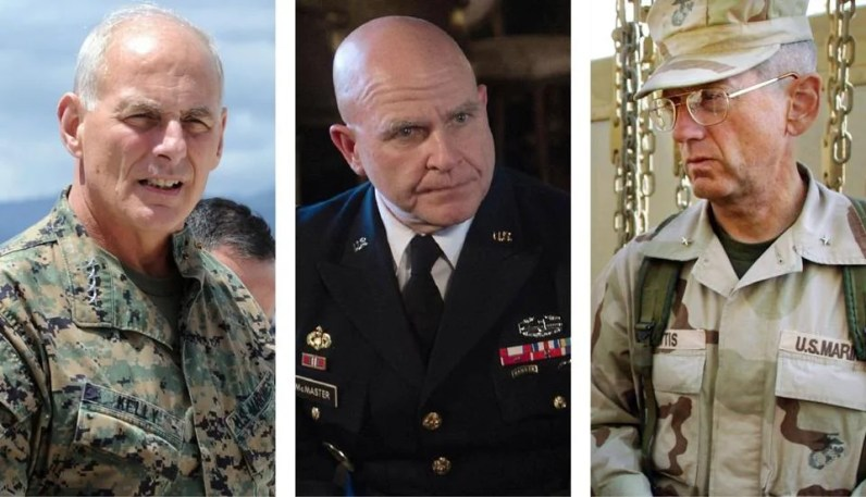 Image result for FORMER Military Generals ekip of TRUMP