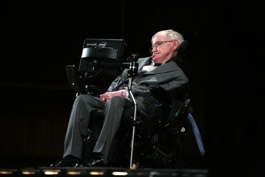 Dr. Hawking delivered an address at Harvard University's Sanders Theatre in April 2016.