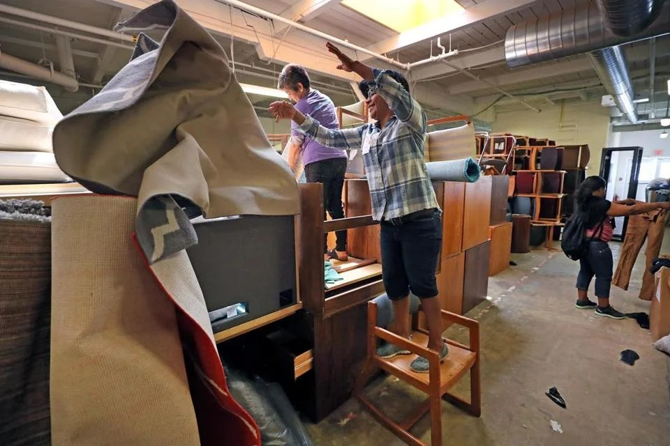 harvard chair for sale folding slipcovers every spring students throw their lives away now colleges are university s recycling and surplus center is open to the public on thursdays attracts treasure