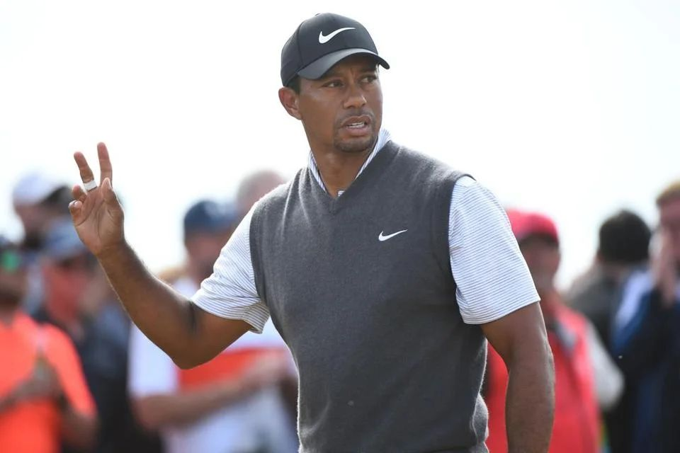 tiger woods british open score today