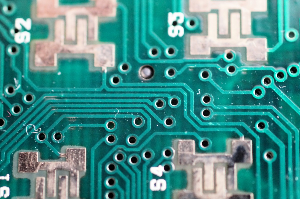 Photos Download Angled Metal Tracks On An Electronic Circuit Board