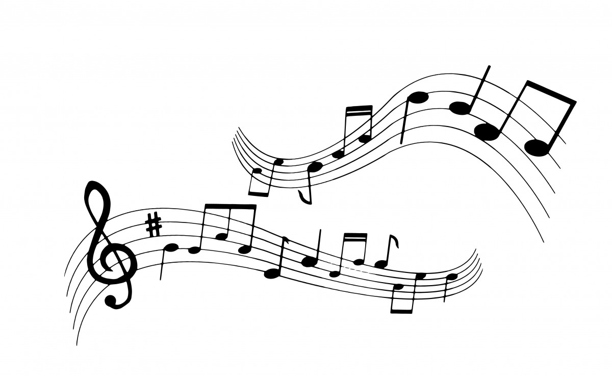 Free Images : silhouette, musical, note, clef, bass