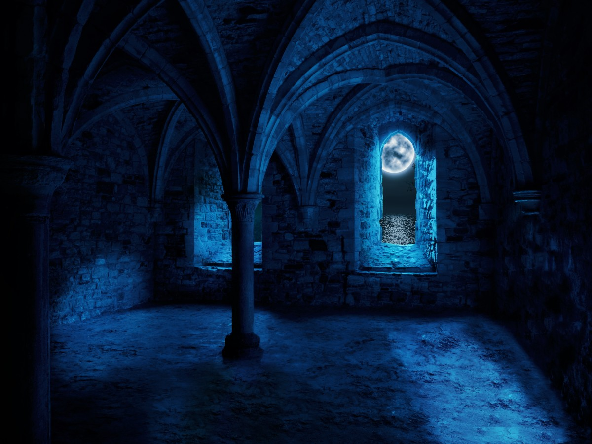 Free Images Empty Space Dark Abbey Fantasy Moon