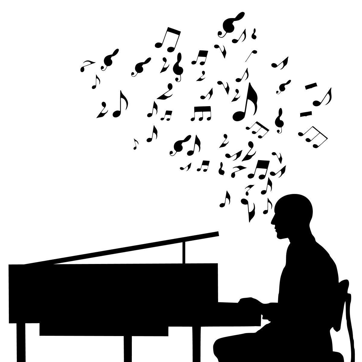 Free Images : piano, player, jazz, music, silhouette