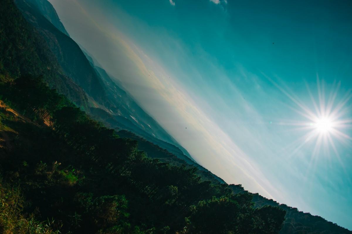 Gambar  langit alam hijau suasana Atmosfer bumi