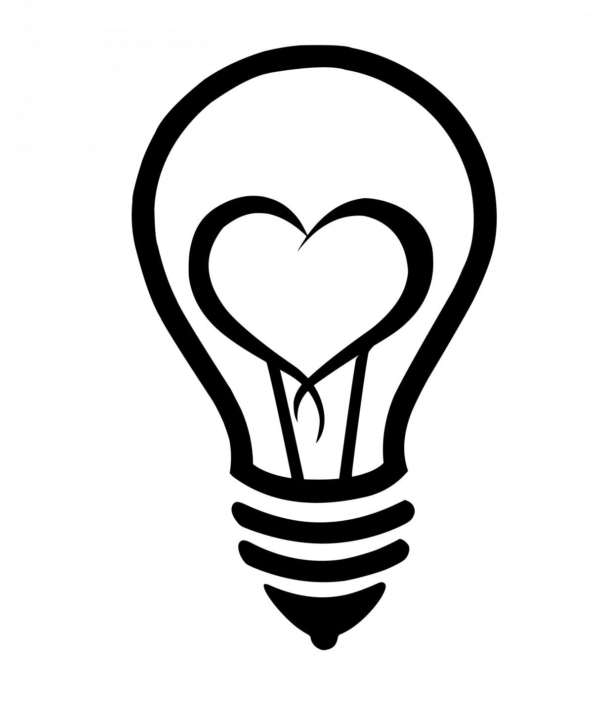 Free Images : lightbulb, heart, love, innovation, idea