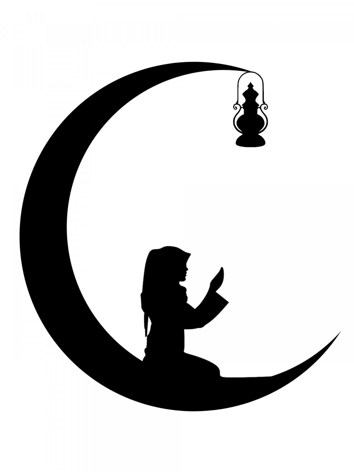 Gambar  Ramadan kareem bulan masjid eid Arab malam