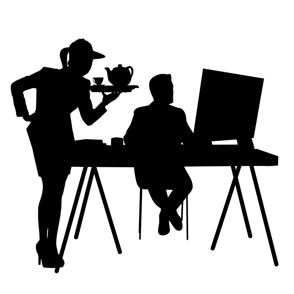 Husband Chair Free Images Silhouette Couple Coffee Sitting Table