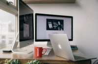 Free Images : laptop, desk, macbook, apple, table, floor