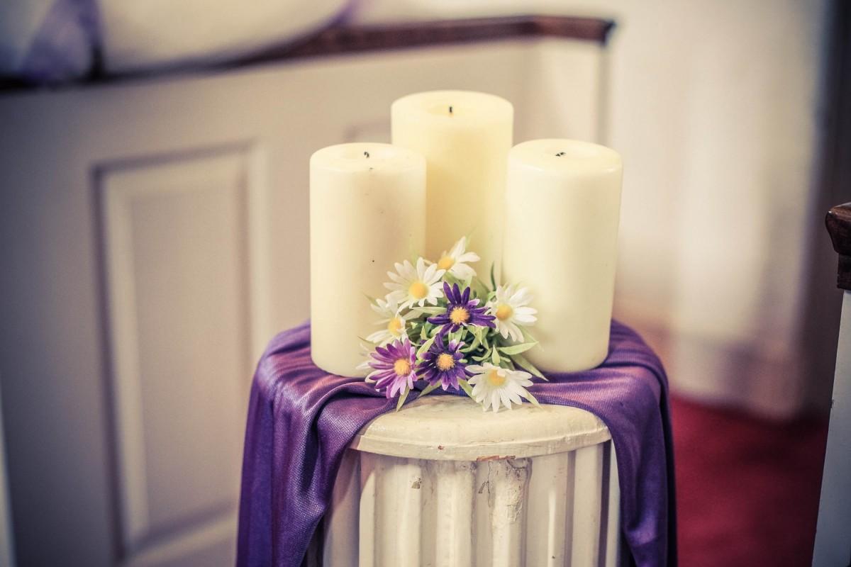 purple decoration column lighting