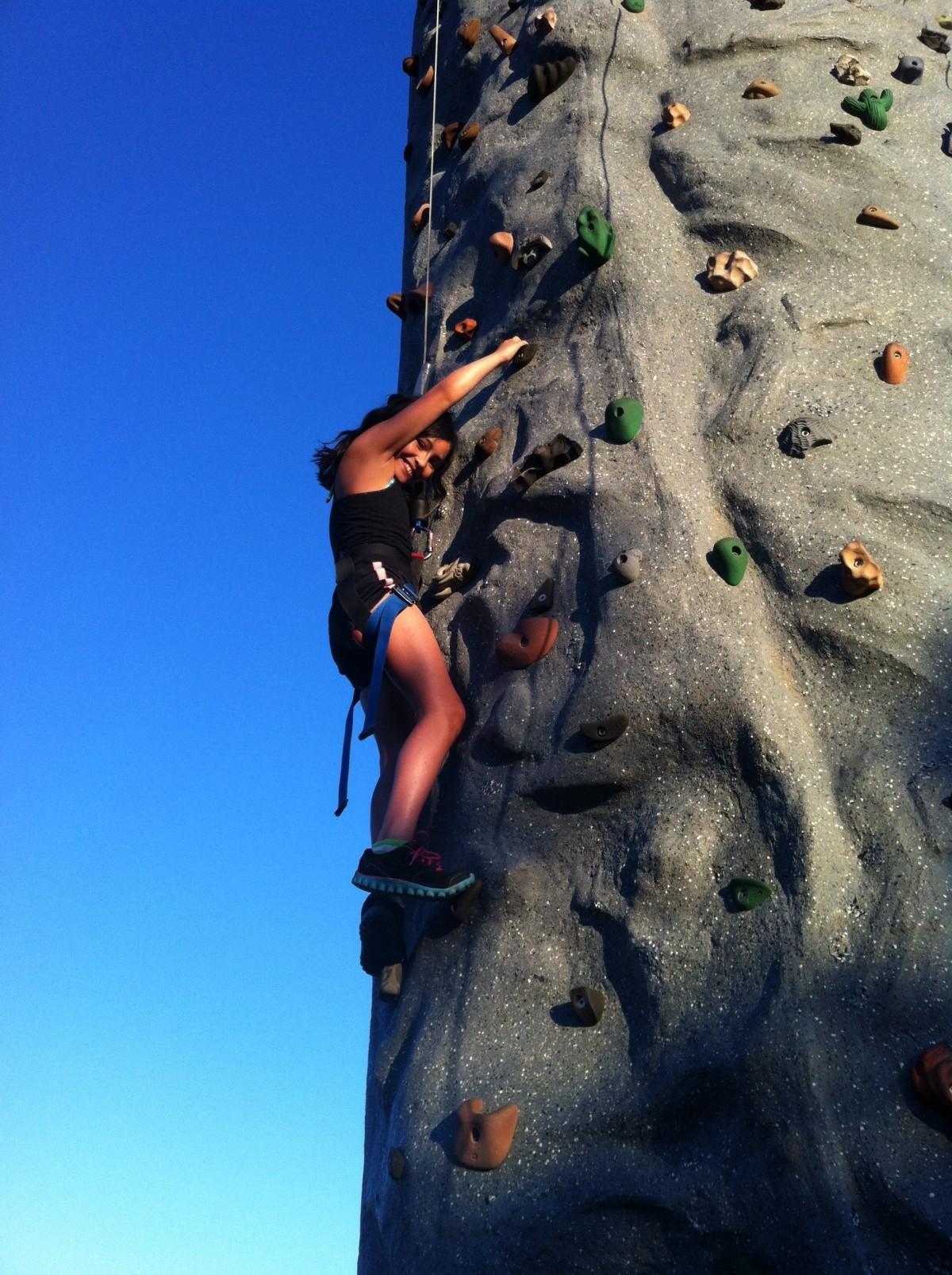 Free Images Girl Night Adventure Rock Climbing