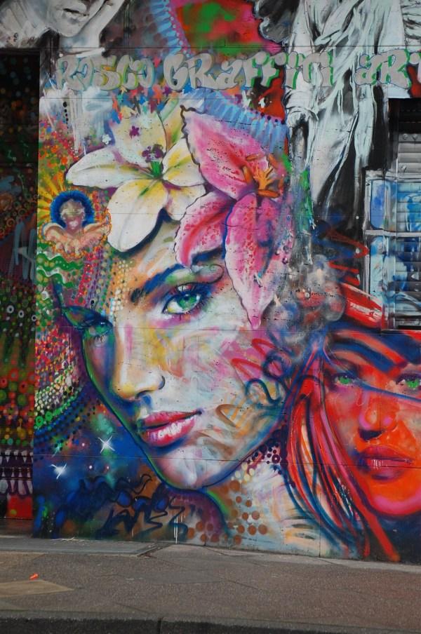 Free Girl Woman Advertising Asian Green Graffiti Street Art Product Cool