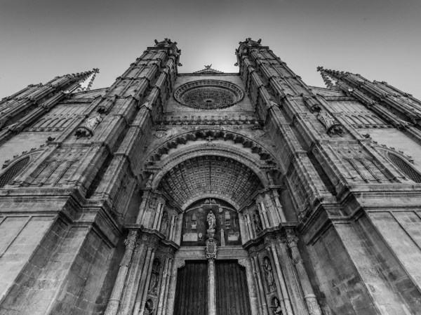 Gothic Architecture Black and White Photography