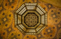 Free Images : flower, ceiling, pattern, yellow, lighting ...