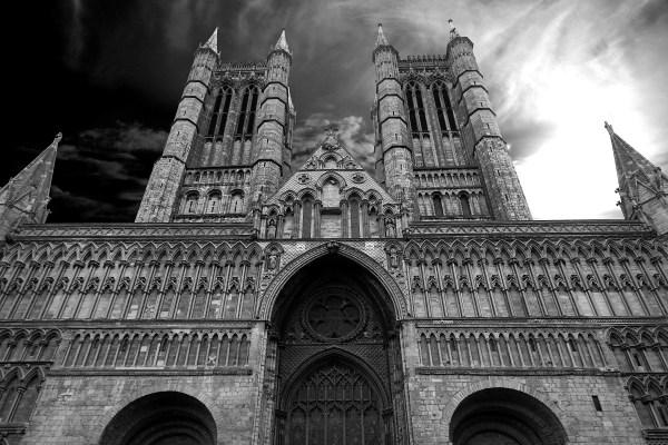 Black and White Gothic Architecture