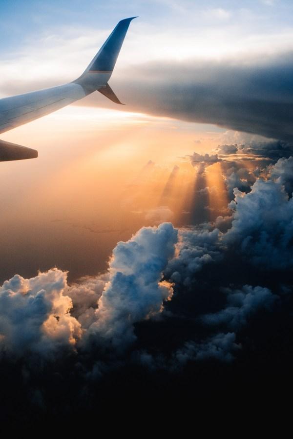 Free Horizon Cloud Sky Mountain Range Daytime Aviation Flight Cumulus Arctic