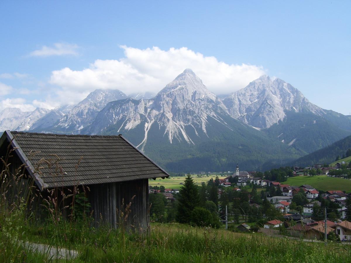 Gambar  pemandangan pondok Desa dataran tinggi