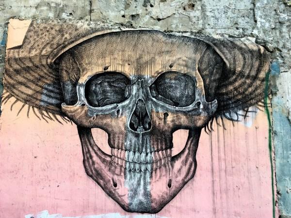 Wall Art Drawing Skull