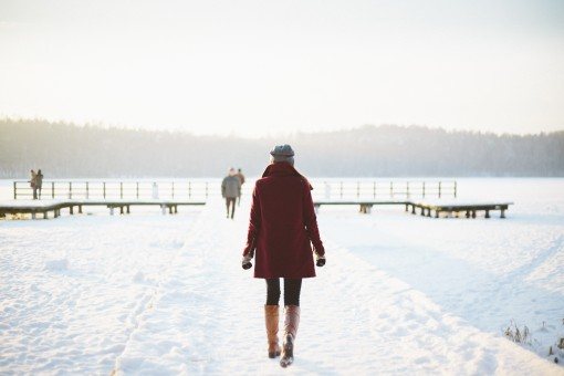 High Resolution Winter Footsteps