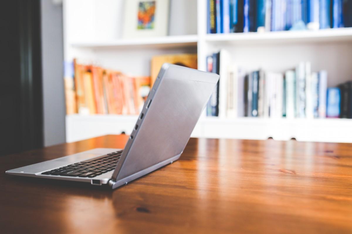 Free Images  laptop desk table technology floor