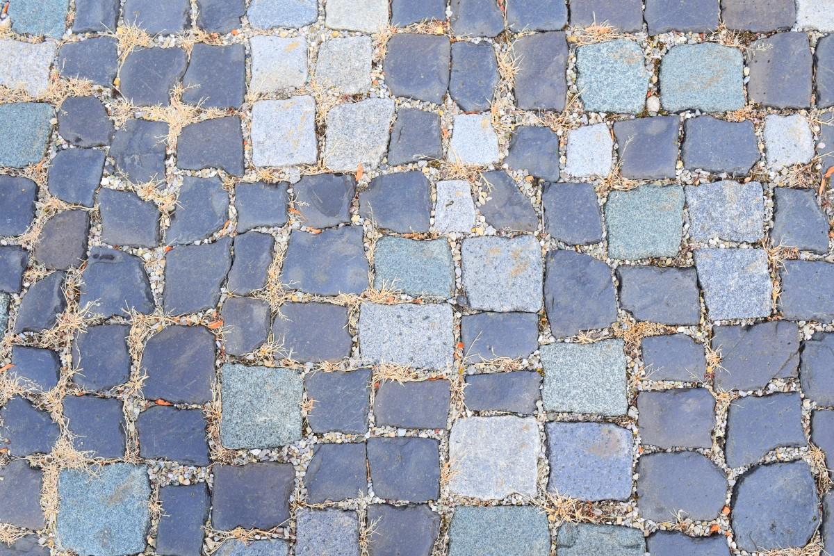 Gambar  tekstur trotoar lantai batu besar aspal