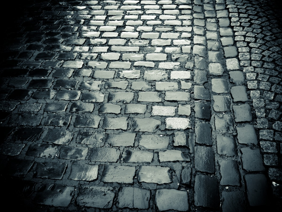 Free Images  light black and white ground texture rain floor wet cobblestone wall
