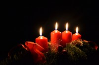 Free Images : light, night, red, holiday, darkness, candle ...